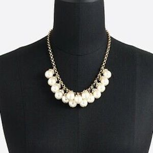 Pave Pearl Cluster J Crew necklace